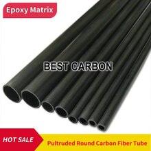 Transporte livre od1.5mm a 12mm, tubo de fibra de carbono pultruded redondo do comprimento de 500mm, cfk rohre, polo da fibra do carbono
