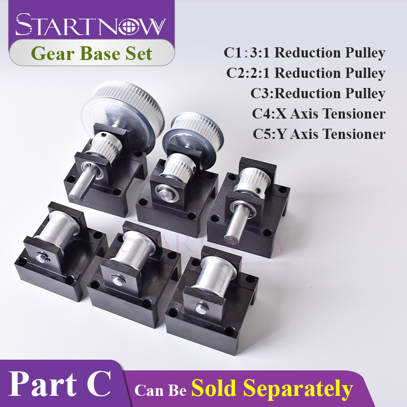 Startnow Gear Base Kit: X Y Axis Tensioner 3M Reduction Pulley Box Idler Timing Synchronous Wheel Seat Fastener Mounting Bracket