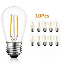 цены 10Pcs S14 E27 2W 4W LED Edison Light Bulbs Warm White 2700K Waterproof LED Bulb Great Outdoor Commercial Grade String Lights
