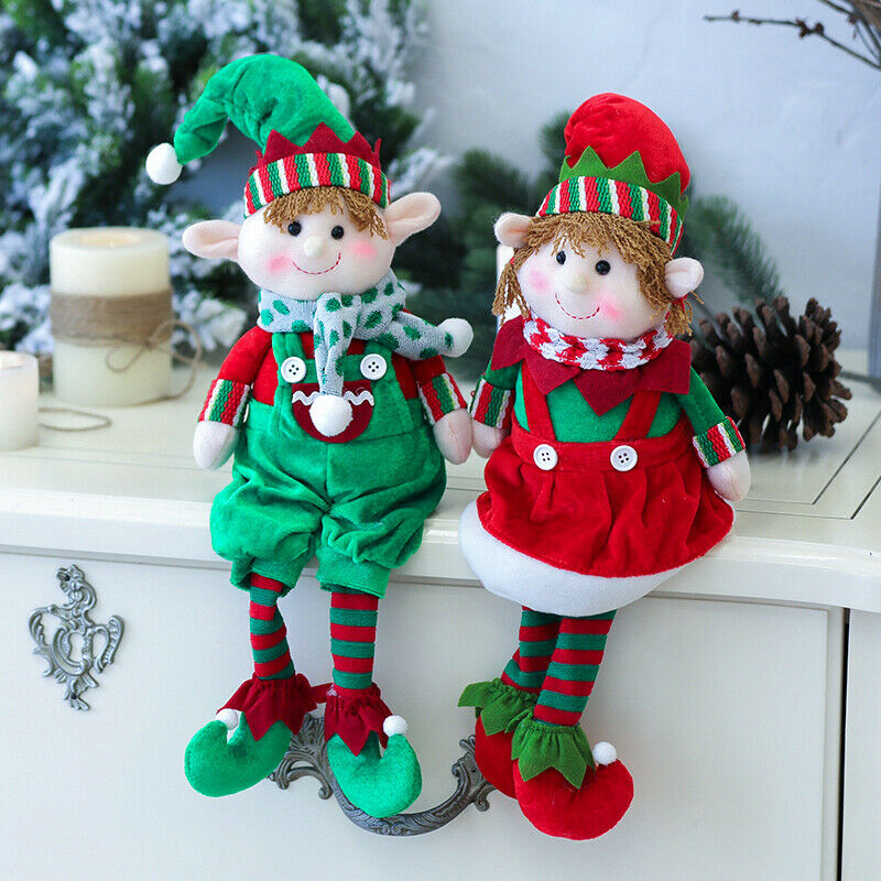 2019 Newest Hot Plush Elf Elves Dolls Toy Christmas Tree Ornaments New Year Gifts Xmas Decor Plush Wall Stuff