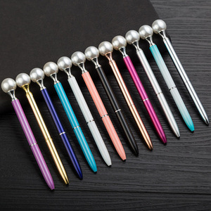 Image 2 - 500 pces/lote de diamante caneta grande gem cristal presente caneta pérola presente caneta feriado dhl entrega gratuita