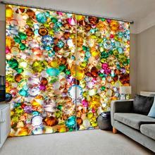 Занавески на заказ, цветные, бриллиантовые, Затемненные, Роскошные, 3D занавески, s Набор для кровати, гостиной, офиса, отеля, дома, настенные, декоративные
