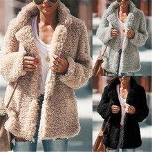 Faux Fur Teddy Bear Coat Jacket Women Fashion Open Stitch Hooded Coat Female Long Sleeve Fuzzy Jacket Coat Outwear Lady Clothing faux shearling hooded coat