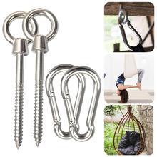 Hammock Accessories Hammock Swing Hook Yoga Kit Stainless Steel Hanging Seat Accessories Indoor /outdoor Hanging Seat Hooks