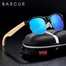 BARCUR Brand Bamboo Polarized Sunglasses Wood Sun Glasses Men Women UV400 Protection lentes de sol hombre