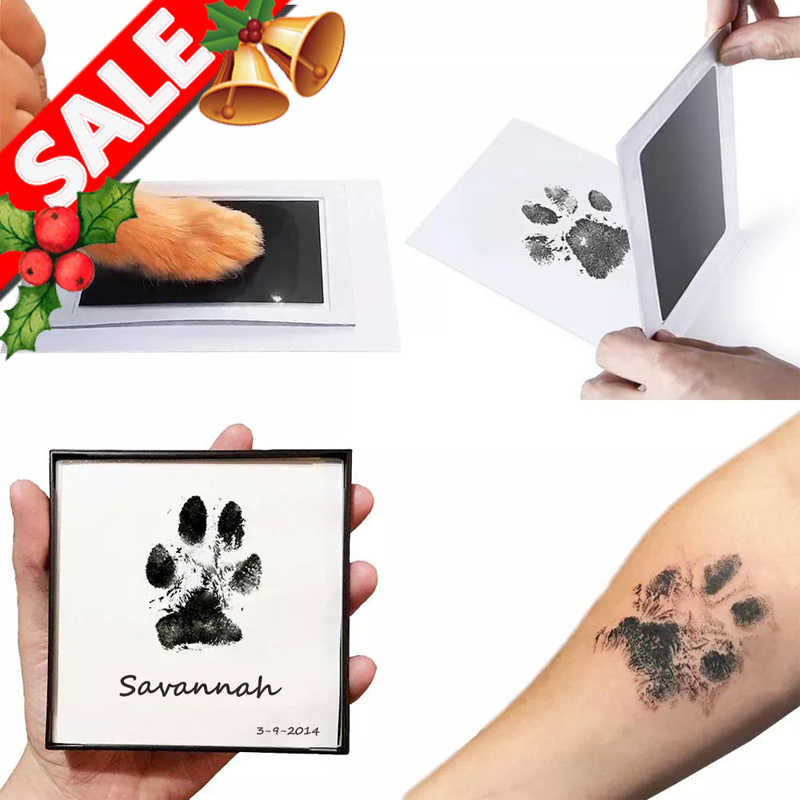 Baby Footprints Handprint Ink Pads Non-toxic Pets Care Cat Ink Pads Kitten Paw Print Pad Foot Print Pad Baby Gifts Dont Washing