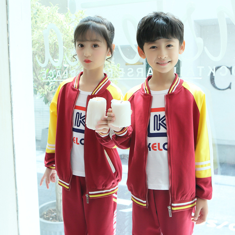 Young STUDENT'S School Uniform Set New Style Spring And Autumn Winter Children Baseball Clothing Sports Business Attire Kinderga