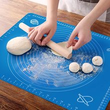 Non-Stick Silicone Baking Mat Sheet Dough Rolling Bake Pads Pie Pizza Maker Pastry Fondant Mats Kitchen Gadget Tool Accessories