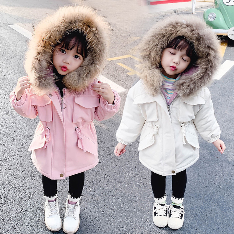 Cold Winter baby girls clothes velvet outerwear for Toddler children girls clothing down cotton jackets kids cloth coats   parkas