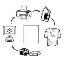 50pcs/Set T Shirt A4 Transfer Paper Iron On Heat Press Printing A4 Paper Light Shirts Craft For T Print Inkjet Fabrics E3D5