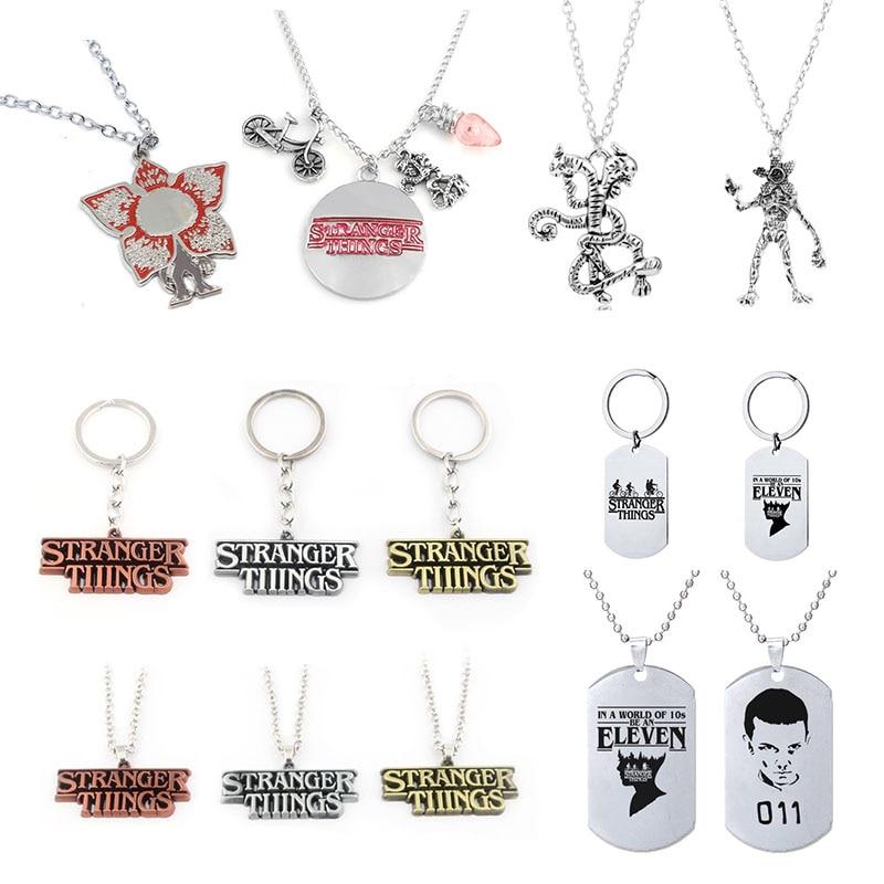 Keychain Figure Snakes Monster Stranger Things Kids Gift Halloween Anime 2-Necklace ELEVEN