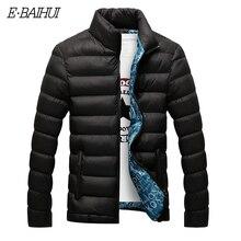 E BAIHUI Chaqueta de invierno para hombre, Parka de cuello levantado a la moda, sólido grueso, chaquetas y abrigos, G022, 2020