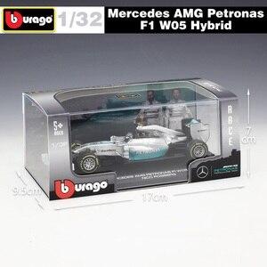 Image 3 - 1:32 Bburago بنز F1 W05 الهجين No44 فيراري SF16 H ريدبول RB13 سباق يموت يلقي نموذج سيارة