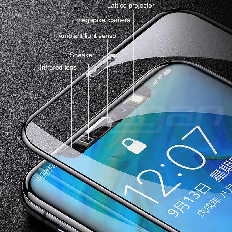 700D غطاء كامل واقية الزجاج المقسى على آيفون 7 8 6 6S زائد واقي للشاشة آيفون 11 برو X XR XS ماكس زجاج عليه طبقة غشاء رقيقة