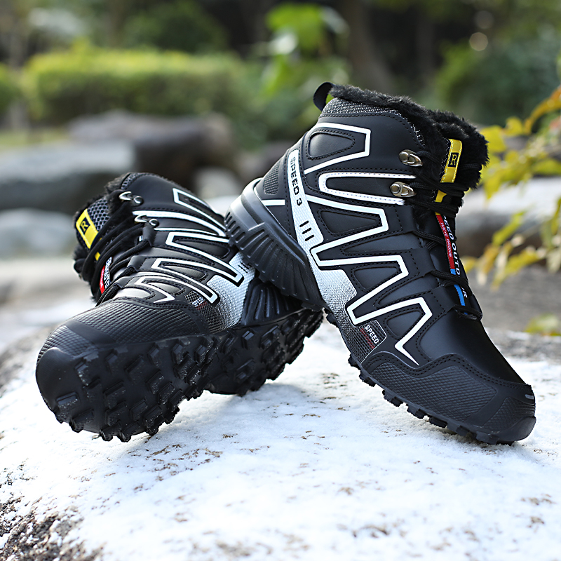 2019 Hot Selling Winter Boots Men Warm Snow Boots Fur Winter Boots Men Leather Shoes Men Warm Comfortable Boots Winter Non-slip