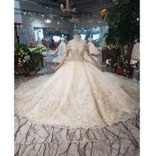 BGW HT563 ثوب الزفاف الكرة الفاخرة مع القطار الملكي اليدوية عالية الجودة الشرق الأوسط نمط ثوب زفاف 2020 Fashion