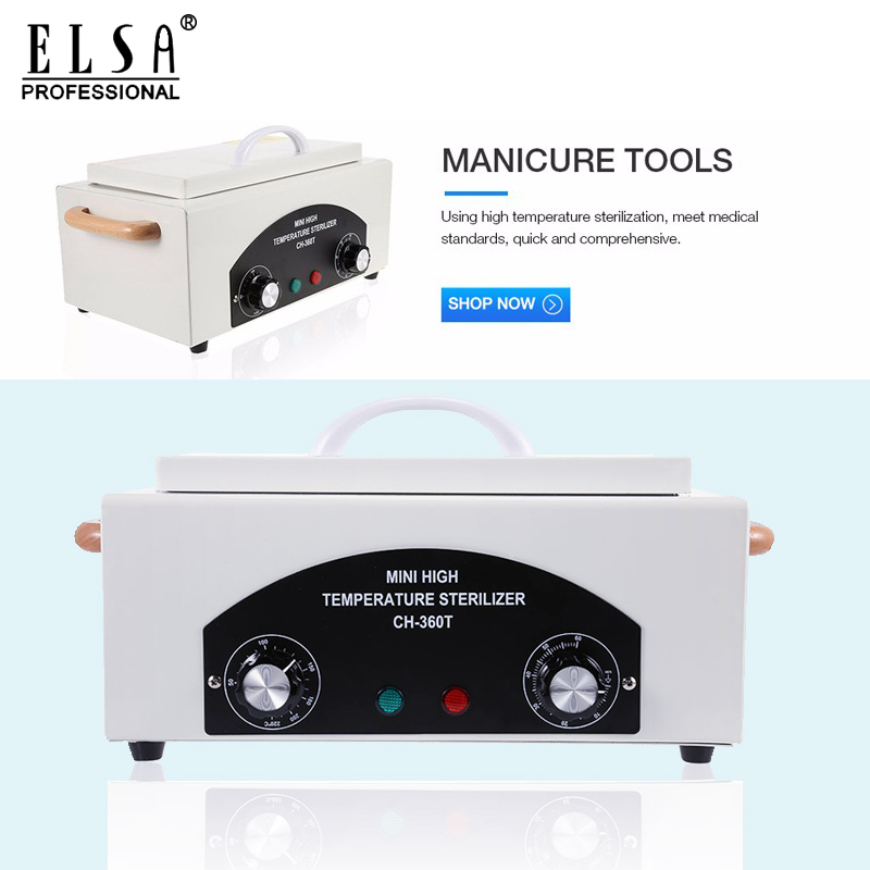 Dry Heat High Temperature Sterilizer Nail Art Equipment Sterilizer Box Portable Sterilizing Manicure Tool Ship From RU Stock