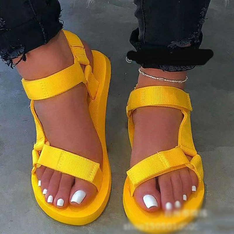 Damen outdoor strand hausschuhe 2020 neue frauen frühjahr/sommer neue weiche-slip nicht-slip sandalen schaum sohle langlebig sandalen