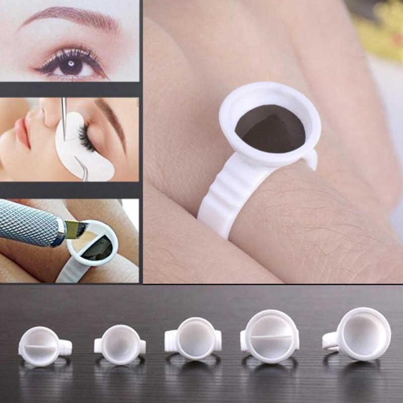 10PCS Disposable Eyelash Extensionผู้ถือกาวEyelash Extensionกาวกาวกาวผู้ถือภาชนะกาวTattoo Pigmentผู้ถือแหวน