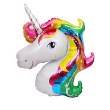 1Pcs Big Size Unicorn Party Balloon Decoration Child Toy Gift Birthday Party Baby Shower Wedding Decoration Balloon(China)