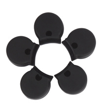 5 PCS Rubber Clarinet Thumb Rest Cushion Protector Instrument Accessory (Black)