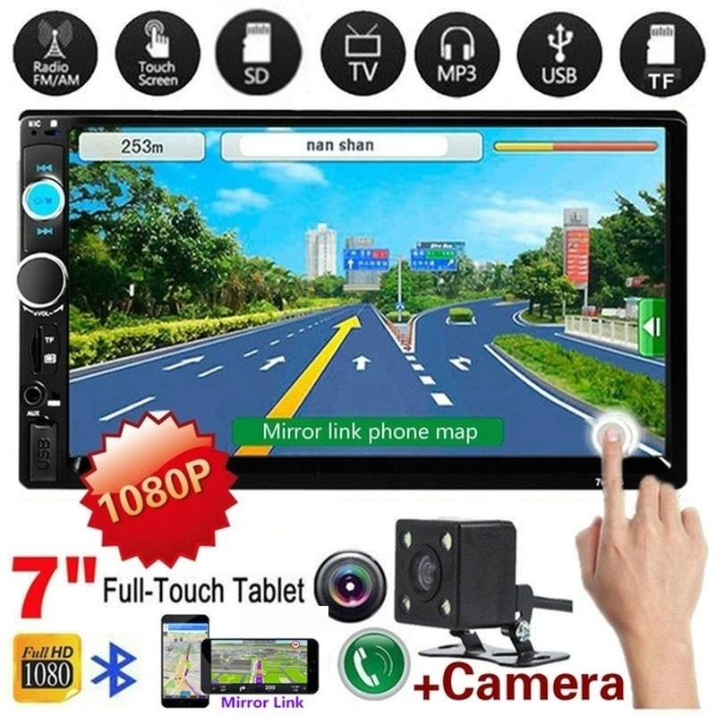 """2 Din Car Radio Double Din Car Stereo Autoradio 7"""" HD Multimedia Player Touch Screen Auto Audio Car Stereo Bluetooth FM Android"""