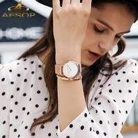Vender Reloj de marca QBAIZI para mujer, reloj de cuarzo casual de moda, caja de oro rosa