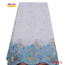 Tela de encaje suizo de alta calidad para mujer, Tissu Dentelle, telas de encaje nigeriano blanco, vestidos africanos para mujer, NA1716B 1, 2020