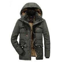 VELVET Winter Parka With Hood 2019 Casual Jacket Men's Windbreaker Warm Padded Overcoat Plus Asian Size L-5XL 6XL 7XL 8XL Coats