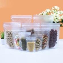 50 шт сумки на молнии многоразовый мешок для хранения еды закусок