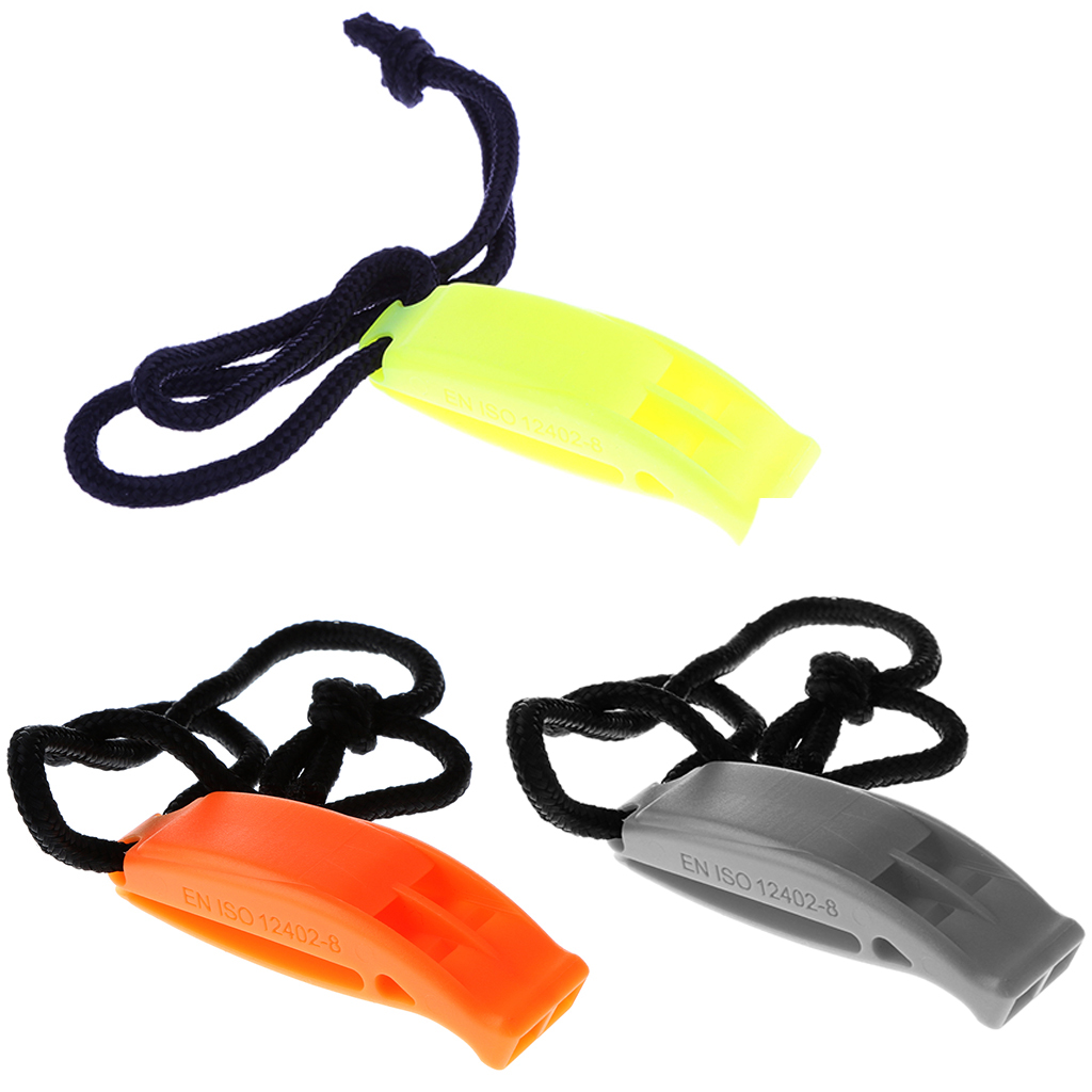 Marine Scuba Dive Safety Whistle Boating Camping Hiking Emergency Tool with Lanyard