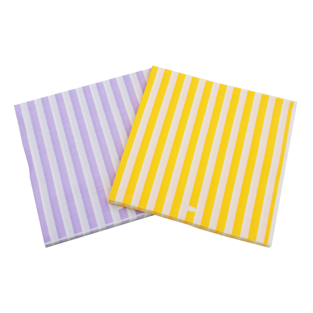 [Currently Available] Color Printed Napkin Heavy Vertical Creative Tissue Napkin RUYD-19