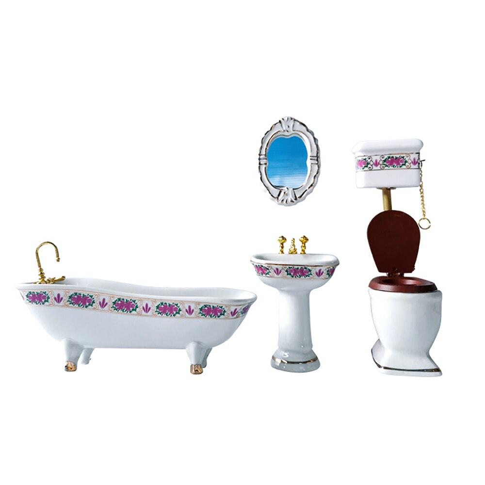 Dollhouse Miniature Bathroom Decor Blue Towel Mini Action Figures Accessory