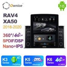 Ownice Android 10,0 para Toyota RAV4 XA50 2018 - 2020 Radio de coche Auto Multimedia Video reproductor de Audio GPS unidad 360 Panorama