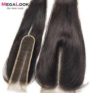 Image 1 - 2X6 סגירת שיער טבעי סגירת 2x6 4x4 13x4 חזיתי תחרה סגירת ישר רמי אור חום תחרה ברזילאית אמצע חלק סגירה
