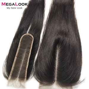 Image 1 - 2X6 Closure Human Hair Closure 2x6 4x4 13x4 frontal lace closure Straight Remy light brown lace Brazilian Middle Part closure
