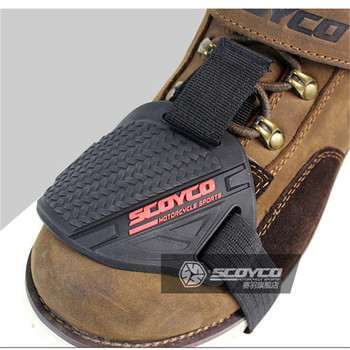 racing motocross men boots dirt pit bike shoe protection gear riding lever racing brake cover motorcycle protective shift pad aluminum gear shift lever for cqr motocross 250cc motorcycle zongshen crf250 230 dirt bike