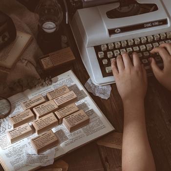 10 sztuk partia eglish słownik serii znaczek DIY drewniane pieczątki do scrapbookingu papiernicze scrapbooking standardowy znaczek tanie i dobre opinie CN (pochodzenie)