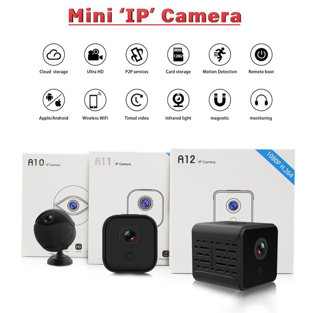 A11 A12 A10 1080P HD Wifi IP Mini Cam Night Vision Security Micro Home Smart CCTV Motion Detection Video DVR Camcorde PK SQ23