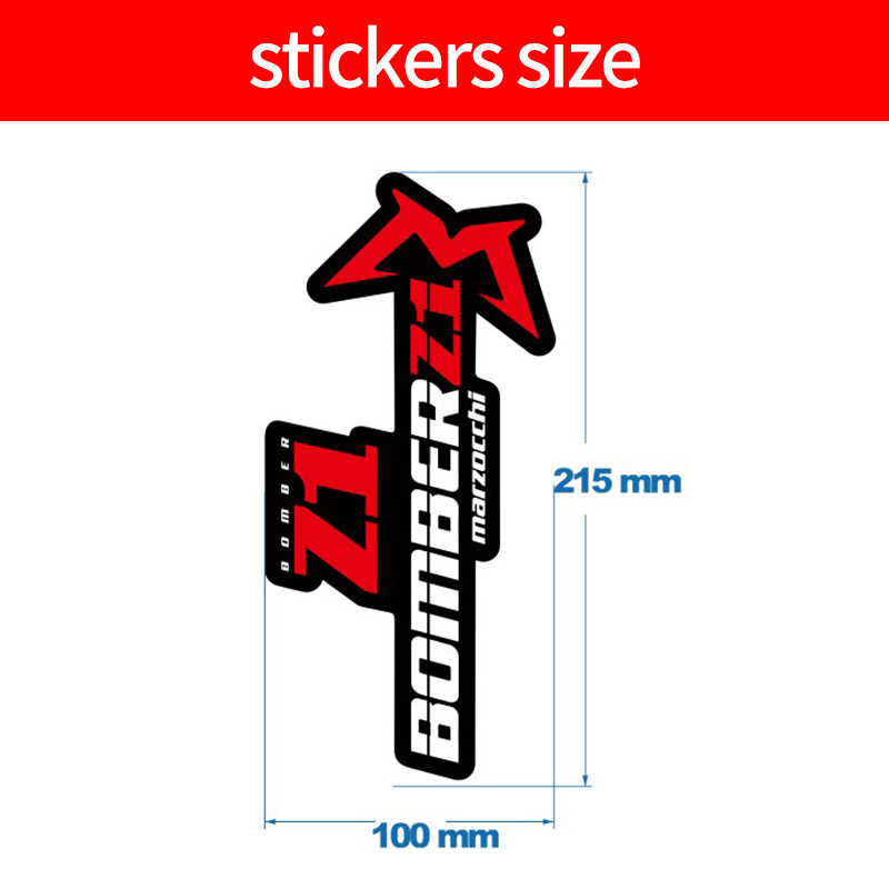 2018 Marzocchi Z1 Fork Sticker gradient color for MTB Mountain Bike Cycle Decal
