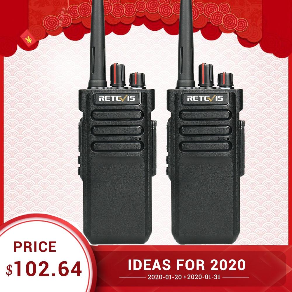 Powerful Walkie Talkie Waterproof IP67 A Pair RETEVIS RT29 UHF (or VHF) Long Range Two-way Radio Handy Walkie-Talkie Transceiver