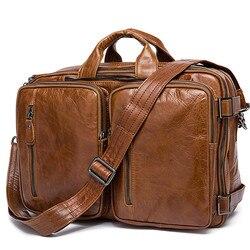 Mens Briefcase messenger bag men leather briefcase male laptop bags mens genuine leather bag office bags for men totes