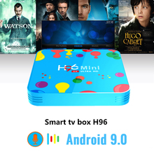 NEW H96 Mini Android 9.0 Smart TV Box Quad Core 4G 128G 6K 5.8 Wifi HD BT Google Player Youtube 4K Media Player Android boxes цена