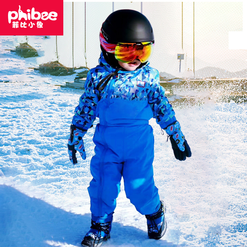 Cross Border Electricity Supplier Phibee Phoebe Baby Elephant Children One-piece Ski Suit Small CHILDREN'S Warm Emergency Underw