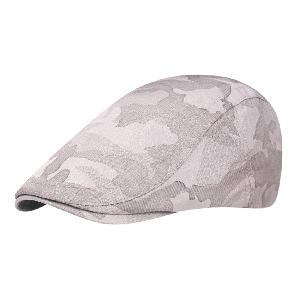 Мужская и женская хлопковая камуфляжная шляпа для гольфа, для вождения, кепка, плоская кепка, повседневная Кепка Утконос, шапка для вождения, 10,7
