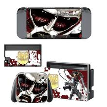 Attack on Titan Nintendoswitch Skin Vinyl Sticker Decal for Nintendo Switch Full Set Faceplate Stickers Console Joy-Con Dock