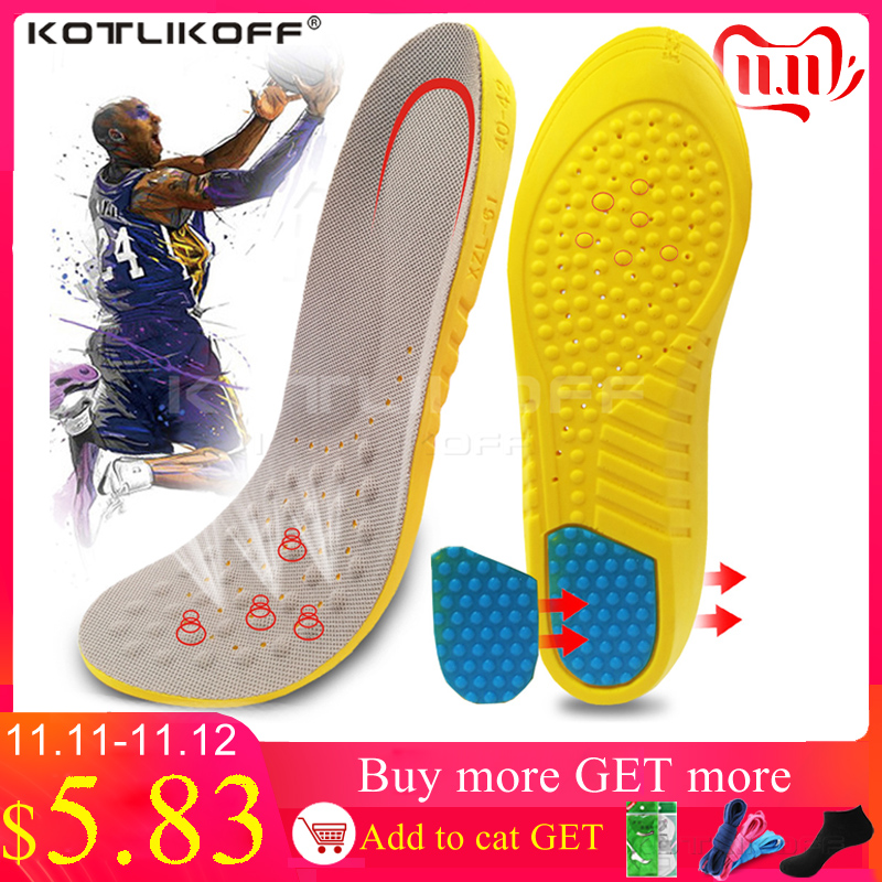 KOTLIKOFF Insoles For Shoes Foot Arch Support Insole For Men Women Running Sport Shoes Sole Heel Spurs Inner Acupressure Insoles