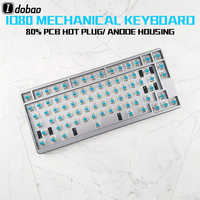 ID80 RGB Backlight Mechanical Keyboard QMK Program Custom Clavier Gamer 80 Keys For Tablet Pc Gamer Personnalisable