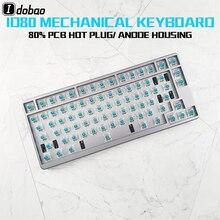 Механическая клавиатура с RGB подсветкой ID80, QMK программа, пользовательская клавиатура для геймеров, 80 клавиш для планшетных ПК