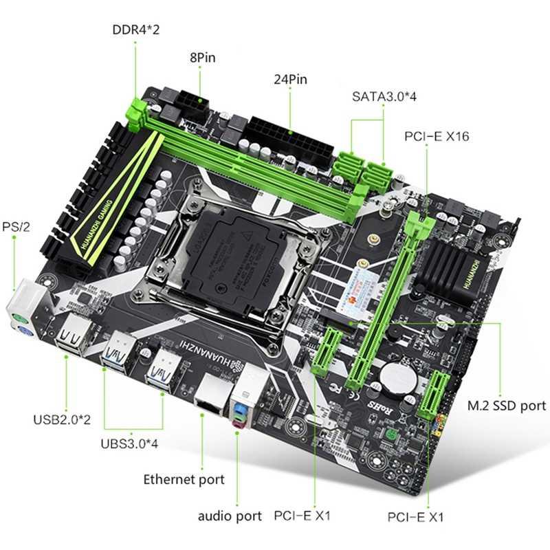 HUANANZHI X99-8M اللوحة فتحة LGA2011-3 USB3.0 NVME M.2 SSD دعم DDR4 REG ECC الذاكرة و زيون E5 V3 V4 المعالج